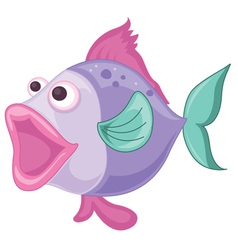 a purple fish vector image