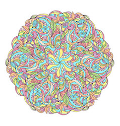 abstract colorful mandala vector image