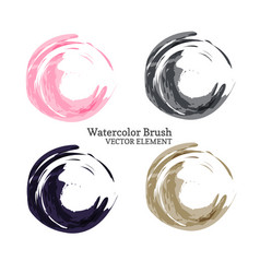 Abstract watercolor brush vector