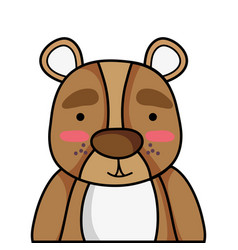 Adorable and surprised bear wild animal vector