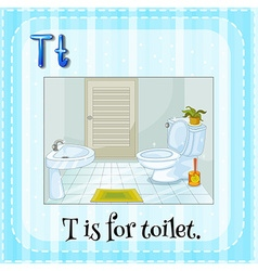 Alphabet t is for toilet vector