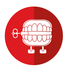 April fools day chattering teeth shadow vector
