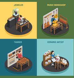 artisan occupation 2x2 design concept vector image