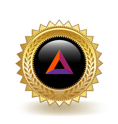basic attention token cryptocurrency coin badge vector image