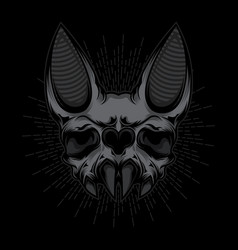 Bat skull design vector