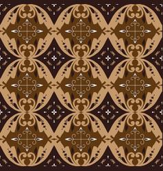 beauty flower pattern on javanese batik vector image