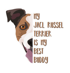 Best friend jack russell terrier vector