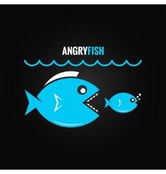 Big fish concept design background vector