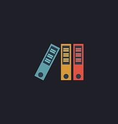 binders computer symbol vector image