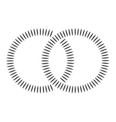 black concentric shapes that makes a two vector image