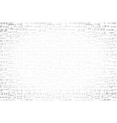 black hand-drawn complicated scientific formulas vector image
