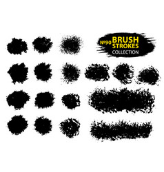 black ink brush strokes vector image