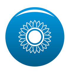 bright sunflower icon blue vector image