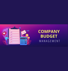 budget planning concept banner header vector image