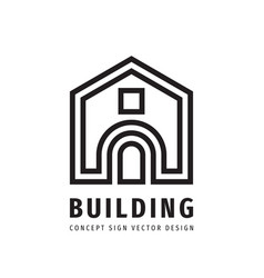 building construction house concept logo design vector image