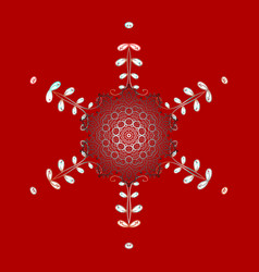 Christmas pattern with snowflakes abstract vector