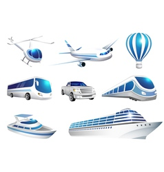 collection icons transport vector image