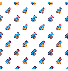 Colorful circus cannon pattern vector