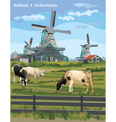 Colorful holland 8 vector