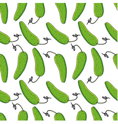 cucumbers seamless pattern vector image