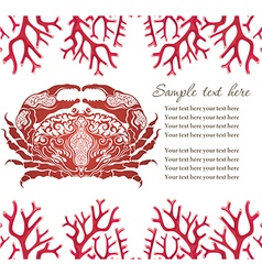 Cute crab vector image
