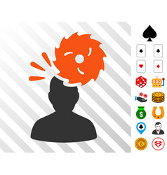 destroy person icon with bonus vector image