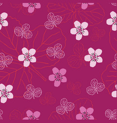 dewberry flowers-flowers in bloom seamless repeat vector image