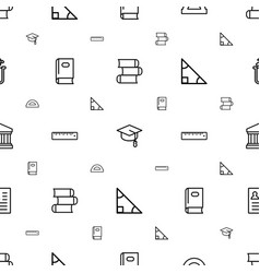 Education icons pattern seamless white background vector