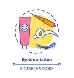 Eyebrow tattoo concept icon eye brows vector