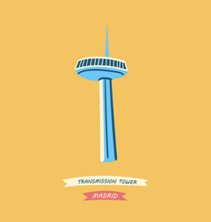 Famous spanish transmission tower vector