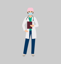 female character of toxicologist vector image
