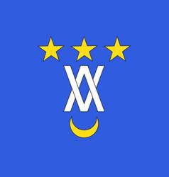 Flag of le vigan in gard of occitanie is a region vector