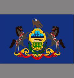 flag of pennsylvania usa vector image vector image