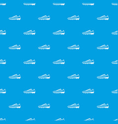 Football boots pattern seamless blue vector