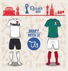 Football world russia 2018 match vector