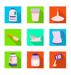 fresh and diet icon set of vector image