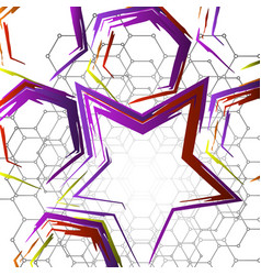 geometric colorful collage vector image