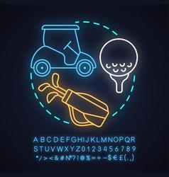 Golf club neon light concept icon vector