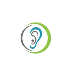 hearing logo template icon design vector image