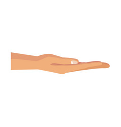 human hand hold gesture pose image vector image