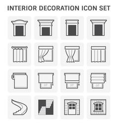 Interior decoration icon vector