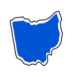 Isolated map of the state of ohio vector