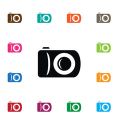 Isolated snapshot icon photographer vector