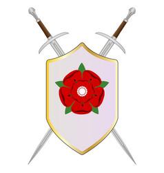lancastrian shield vector image