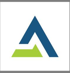 letter a triangle business logo symbols app vector image