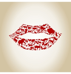 Lip an animal vector image vector image