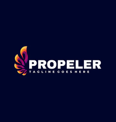 logo propeller gradient colorful style vector image