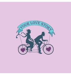 Love story Logo Symbol vector