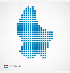 luxembourg map and flag icon vector image