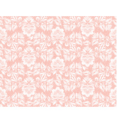 Modern coral lace seamless texture great design vector